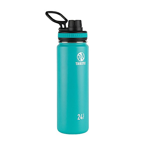 Takeya 50044 Originals Vacuum-Insulated Stainless-Steel Water Bottle, 24oz, Ocean, 24 oz, ()