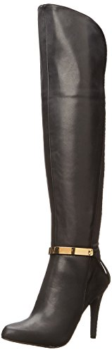 Fashion Boots Fergie Black Womens Closed High Toe Cove Knee q60qYT