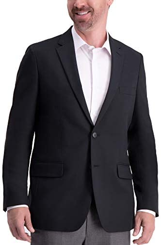 Haggar Men`s Active Series Solid Gab Tailored Fit Blazer / Haggar Men`s Active Series Solid Gab Tailored Fit Blazer