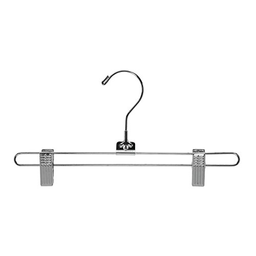 Skirt Hangers Chrome 12'' Case of 100 by Retail Resource