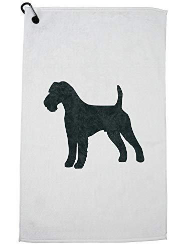 Hollywood Thread Irish Terrier Dog Golf Towel with Carabiner Clip ()