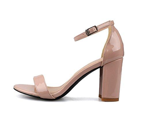 donne 40 fibbie 40 alla moda NHGY sacchi 'sandali 8cm e sandali lacca violento 7PpqZpwY
