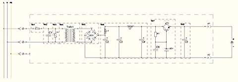 Schematic wiring diagram of power supply: ?1: fuse ?2: capacitor to compensate cos?á ?3: varis... - Power Supply Schematic