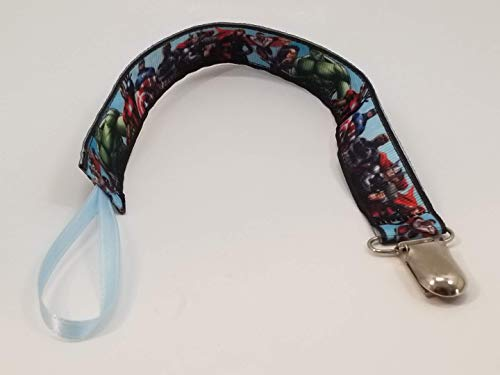Avengers Team Pacifier clip/teething toy clip