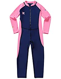 Gogokids Kids Long Sleeves Swimsuit - Boys Girls One Piece Sunsuit Swimwear
