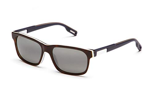 Maui Jim Eh Brah 284-57 | Sunglasses, Tortoise with White and Blue, with with Patented PolarizedPlus2 Lens ()
