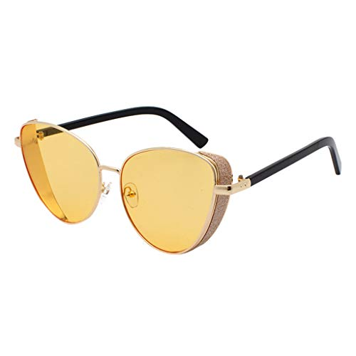 Retro Vintage Sun Glasses For Men, Cat Eye Sunglasses For Women Metal Frame Outdoor Eyewear Stylish Driving ()