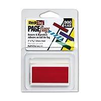 Banderas Indicadoras Sólidas Redi-Tag (R), Rojo, Paquete de 300