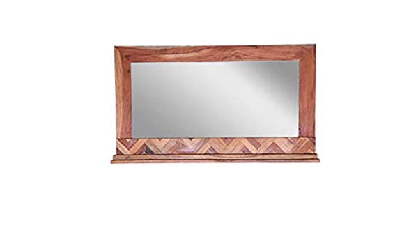 Amazon Com Dsigne Gallerie Andover Mirror Frame Wooden Wall Mirror Decorative Accent Mirror Living Room Small Spaces Natural Home Kitchen
