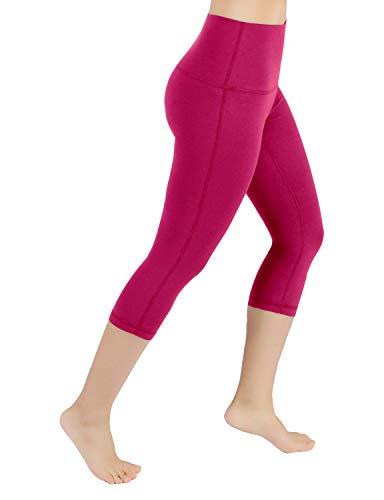 ODODOS Power Flex High-Waist Yoga Capris Tummy Control Workout Running Pant with Hidden -