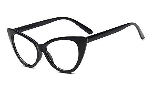 marca Cateye Moda diseñador qbling Grande de Vintage sol mujeres de gato technolog de Gafas Gafas para ojo Claro 2018 espejo gafas de las Nueva qt1AOt
