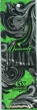 Lot of 5 Deviously Black Bronzer Tanning Lotion Packets by Trifing