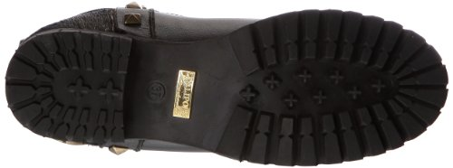 Femme Noir Boots black High Lollipops Bottines Patchwork XwqPq6I