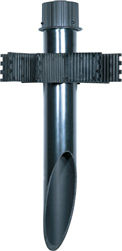 Nuvo Lighting SF76/640 2-Inch by 18-Inch PVC Mounting Post Die Cast Aluminum Cap Durable Outdoor Landscape Pathway Lighting, Dark Bronze