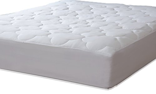 Micropuff Down Alternative Mattress Pad - White Quilted Fitt