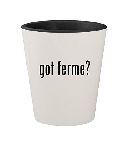 got ferme? - Ceramic White Outer & Black Inner 1.5oz Shot Glass