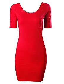 Tom's Ware Womens Classic Slim Fit Bodycon Dress