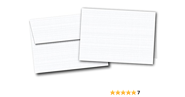 Natural White 118lb Pack of 40 100/% Cotton 5 x 7 Flat Card