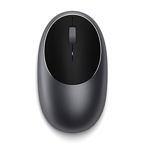 Satechi Aluminum M1 Bluetooth Wireless Mouse with Rechargeable Type-C Port - Compatible with Mac Mini, iMac Pro/iMac, MacBook Pro/Air, 2019 iPad, 2018 iPad Pro (Space Gray)