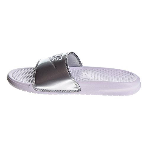Just Women's Sandal White NIKE Synthetic Silver Benassi Grey Wolf Do Metallic It CqCEdw