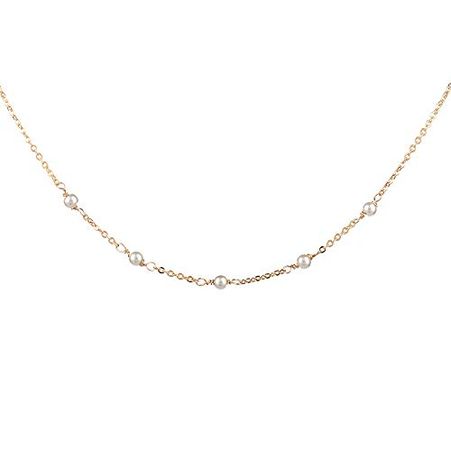 Turandoss Pearl Choker Necklace for Women - 14K