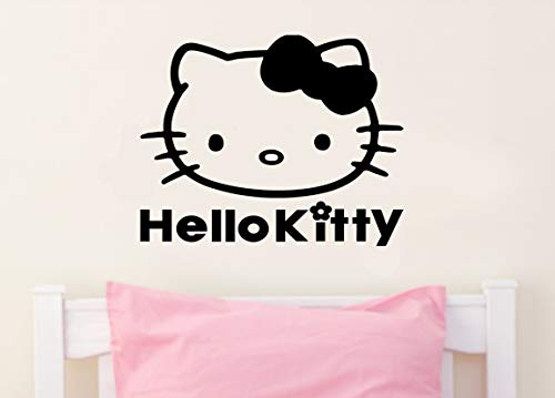 Imprinted Designs Hello Kitty Inspired Wall Decal Sticker Art Mural -