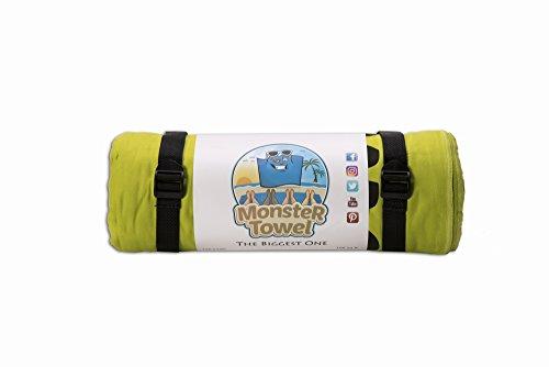 Monster Towel The Worlds Biggest Towel. Big Beach Towel Microfiber Oversized Large Huge Beach Towel(Lime Greeen) by Monster Towel (Image #5)