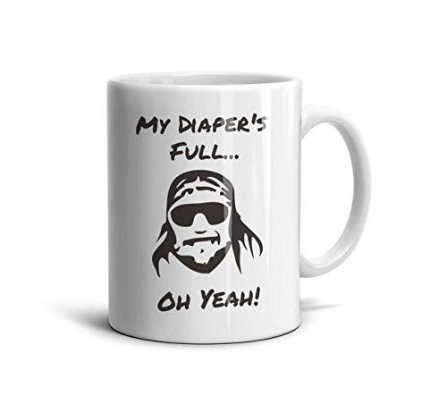 11 OZ Ceramic Coffee Mugs Randy-Macho-Man-Savage-Comedy-Onesie-Wrestling-Parody- White Cups wiht Graphic Printing Tea Cup Birthday Gift -