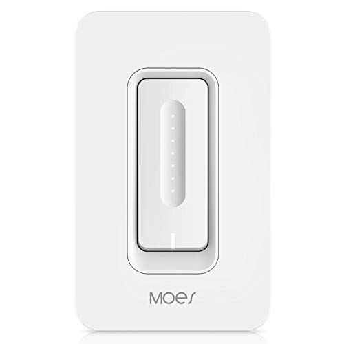 (WiFi Smart Dimmer Light Switch Wireless Remote Control Anywhere Works with Alexa and Google Assistant Timing Function No Hub Required Neutral Wire Require (WT03S(Smart Dimmer Switch)) )