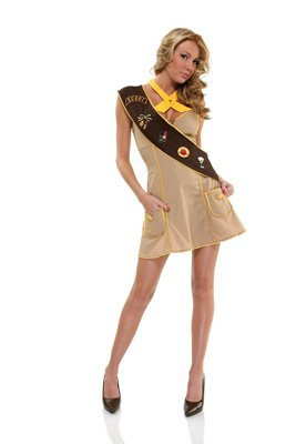 Forplay Women's Troop Leader Adult Sized Costumes, Brown, Small/Medium -