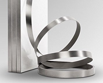 Brushed Aluminum Stainless Steel 7/8'' X 25' X 1mm Thickness Edgebanding Automatic Roll - Non Glued - Made in USA. by Edge Supply (Image #2)