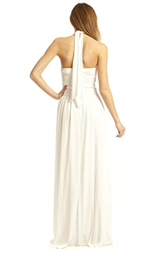 Kleid White IKRUSH Abend Polly Maxi Womens wgwq8Zp