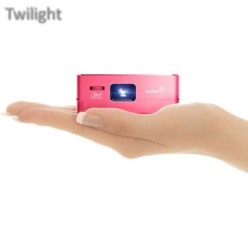 Ivation Pro3 Portable Rechargeable Smart DLP Projector (Red) (Ivation Projector)