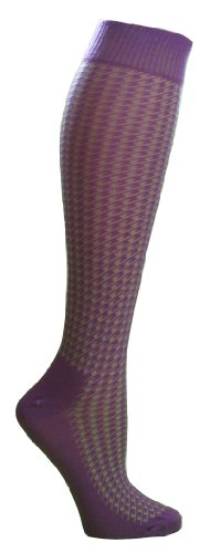 JoJoSox Tall Bambootz One Size Purple/Lime/Hounds Tooth APlrvH4s2S