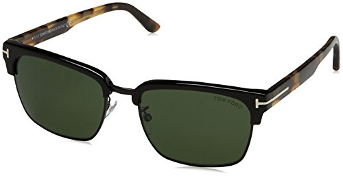 Tom Ford River FT0367 Sunglasses-02B Matte Black (Smoke Gradient - Ford Tom Henry