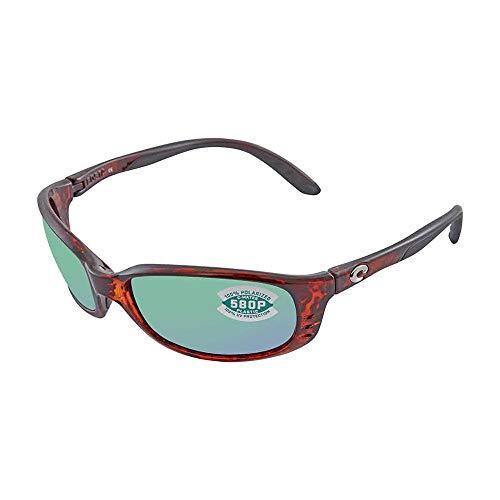 Costa Brine Readers Tortoise Plastic Frame Green Lens Men's Sunglasses ()