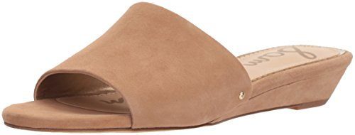 Sam Edelman Women's Liliana Slide Sandal, Golden Caramel Suede, 9.5 M US (Suede Wedges Edelman)