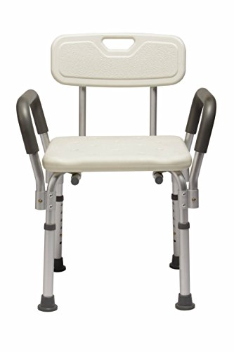Medline MDS89745RA Knockdown Bath Bench with Arms and Back (Pack of 2)