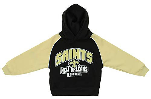 NFL Infants & Toddlers Printed Pullover Athletic Hoodie, New Orleans Saints, 2T