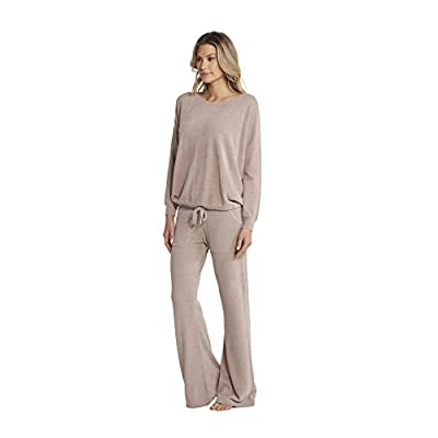 Barefoot Dreams CozyChic Ultra Lite Slouchy Pullover for Women, Ultra Soft Long Sleeve, Crew Neck Pullover at Women's Clothing store