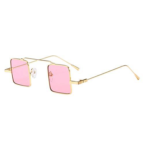 sol de de de Diseño moda Dorado metal cuadrado Marco UV Gafas pequeño de Gafas lente gato verano ojo Protección Rosa de de de 6AwYxqF