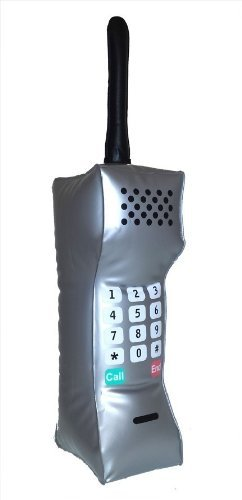 90's Teenage Business Mobile Telephone Costume Cell (Cell Costumes)