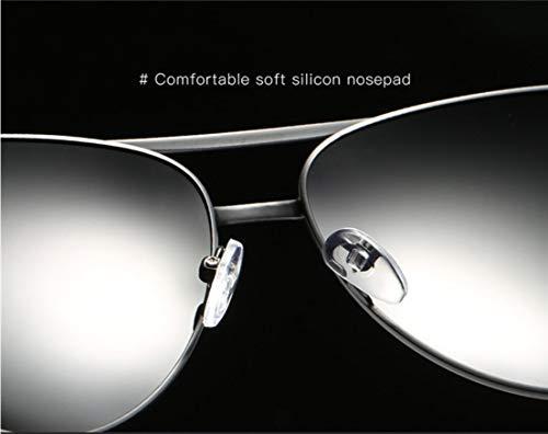 Polarized para 400 Classic UV Gafas Protection lightblue Mujer Sol Gold para Piloto De Y Style Hombre twCfqw8xF
