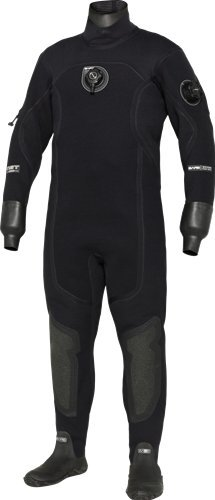 Bare XCS2 Crushed Neoprene Pro Dry Men's Drysuit (X-Large, Black) (Best Crushed Neoprene Drysuit)
