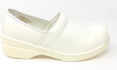 - Rasolli Women's Professional Closed Back Clogs, White, Size 9.0
