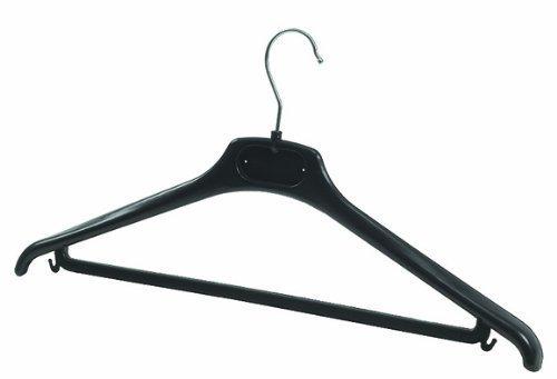 Alba Coat Hangers, Black Plastic, Set of 20 (PMBASIC PL) Alba Plastic Coat Hanger