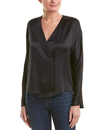 Vince Women's Drape Panel Blouse, Black, ()