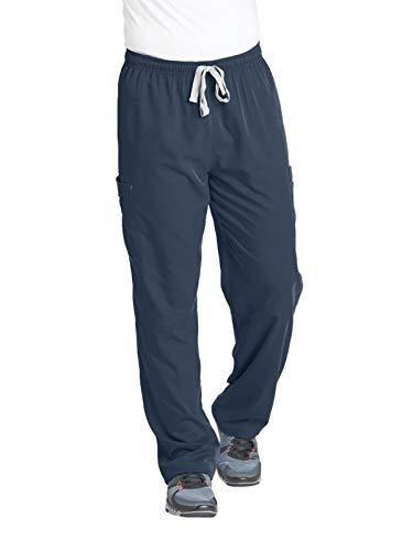 Mens Scrub Pants - Grey's Anatomy Men's Modern Fit Cargo Scrub Pant, Steel, Medium
