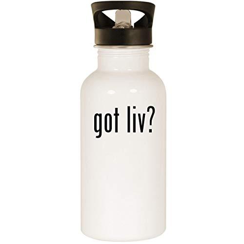 (got liv? - Stainless Steel 20oz Road Ready Water Bottle, White)