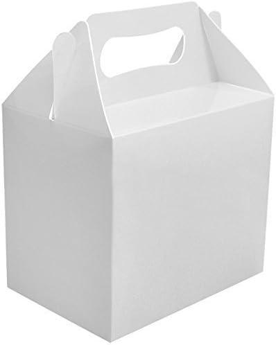 24 x Blanco Liso Fiesta Cajas Comida Juguetes Almuerzo Cartón Regalo De Boda/Niños: Amazon.es: Oficina y papelería